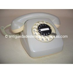 TELEFONO ANTIGUO HERALDO GRIS AÑOS 70