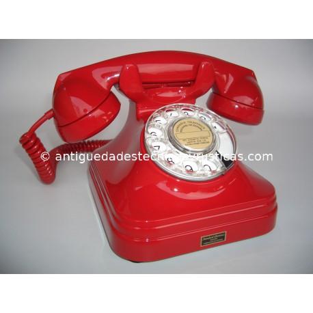 TELEFONO ESPAÑOL AÑOS 50 LACADO EN ROJO