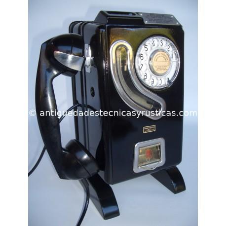 TELEFONO DE FICHAS DE SOBREMESA AÑOS 50