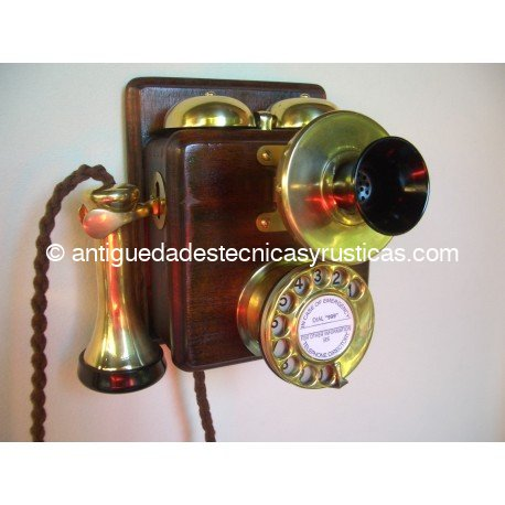 TELEFONO ANTIGUO INGLES 1910 DE PARED