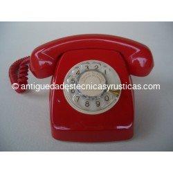 TELEFONO ROJO ESPAÑOL AÑOS 70 DE SOBREMESA