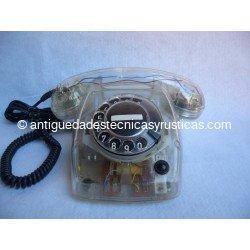 TELEFONO ANTIGUO ERICSSON TRANSPARENTE AÑOS 70
