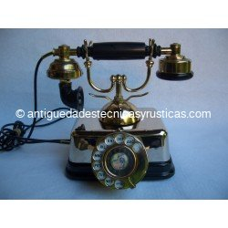 TELEFONO ANTIGUO CLASICO CROMADO AÑOS 60