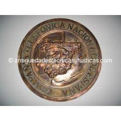 C.T.N.E. - PLACA BRONCE COMPAÑIA TELEFONICA NACIONAL DE ESPAÑA