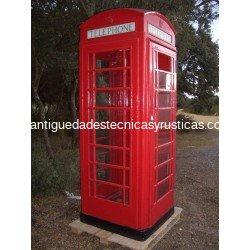 CABINA TELEFONICA INGLESA ROJA - 100% ORIGINAL