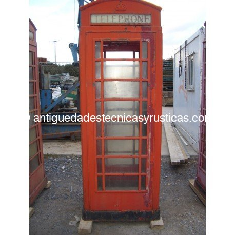 Cabina londinense para restaurar 100 original for Antiguedades para restaurar