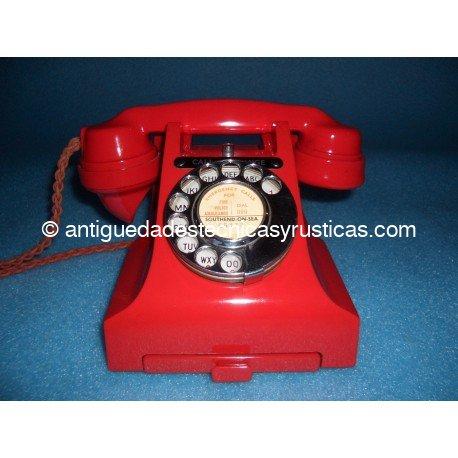 TELEFONO ANTIGUO BAQUELITA ROJA